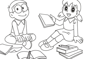 Happy Doraemon 1 Coloring Page Free Coloring Pages Online Coloring Book Download Coloring Books Coloring Pages To Print