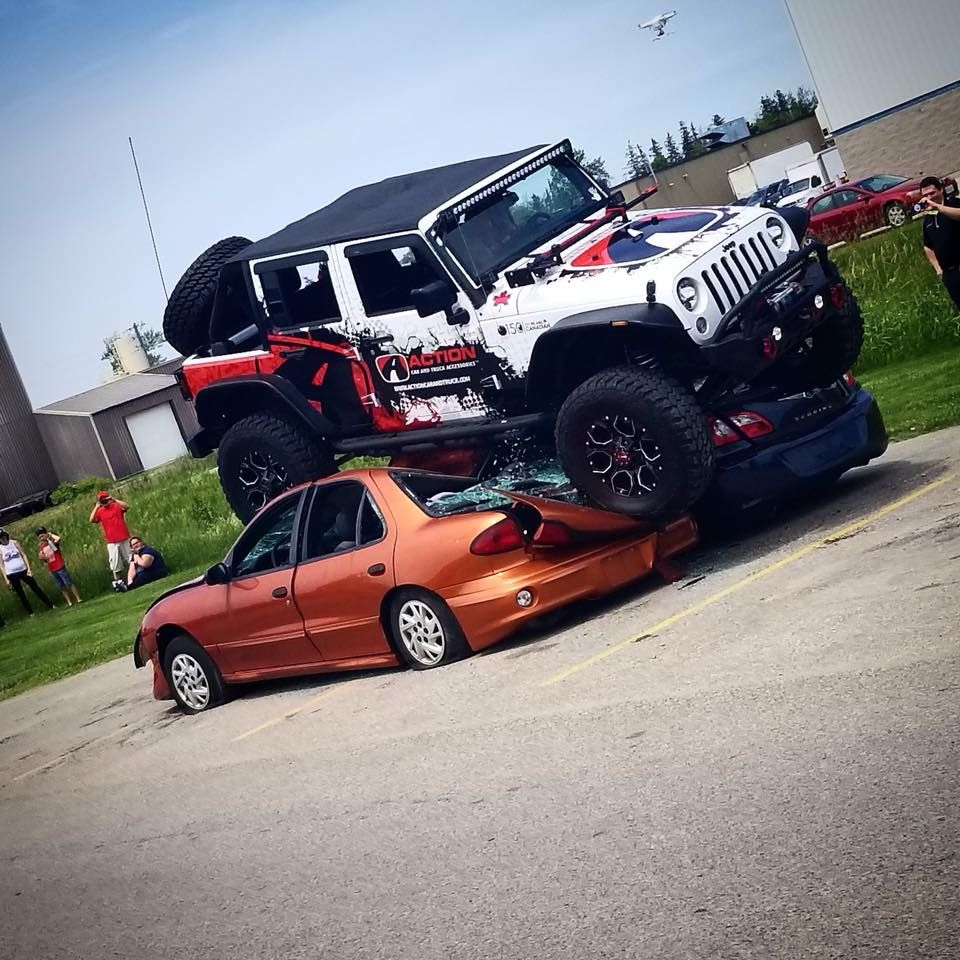 Action Does A Little Car Crushing Jeep Wrangler Carcrushing