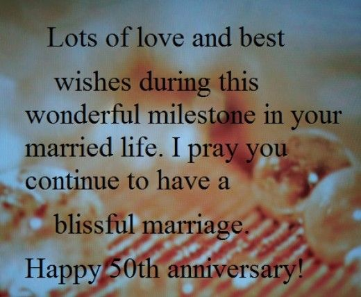 Happy 50th Year Wedding Anniversary Wishes and Quotes What to – What to Write in a Best Wishes Card