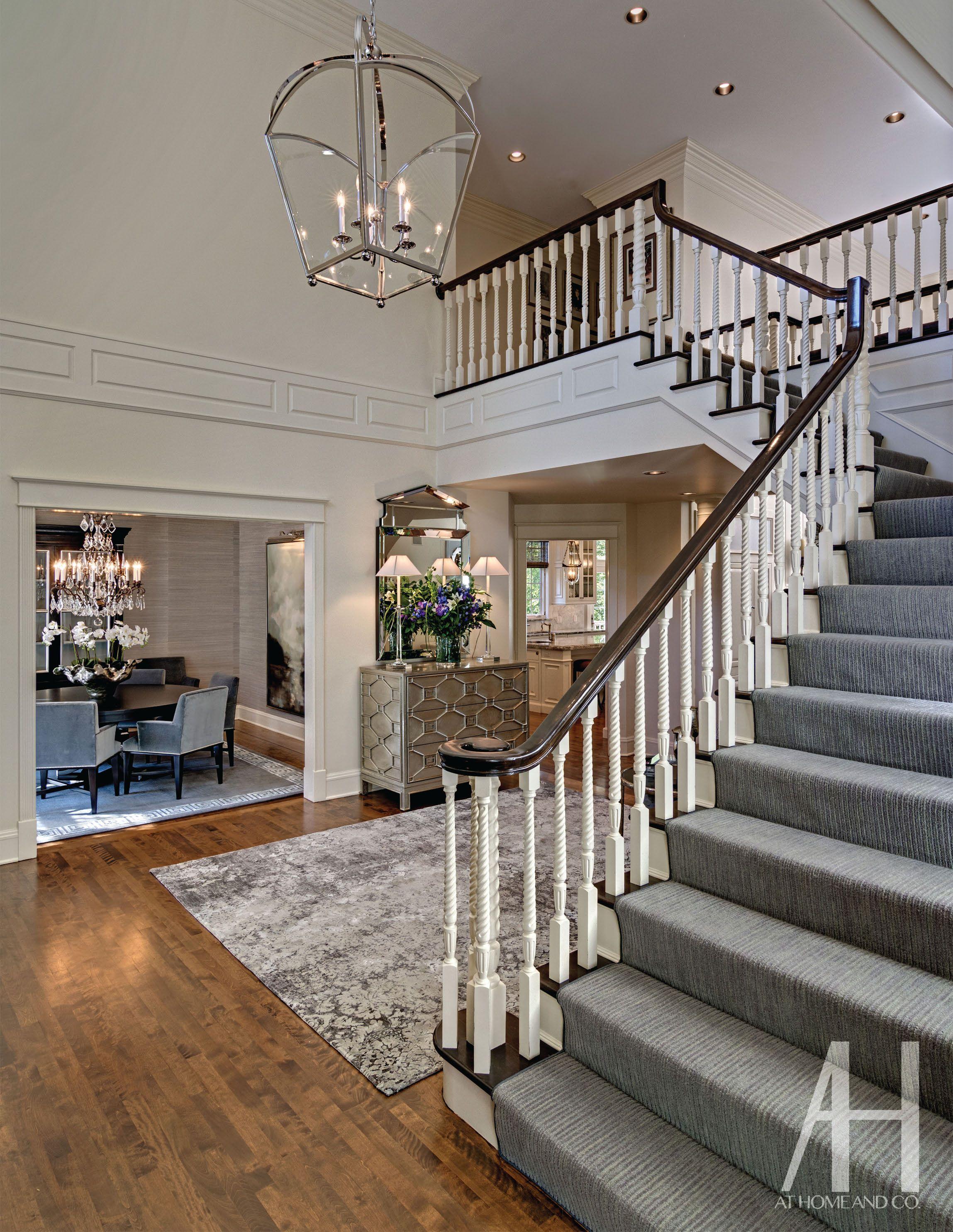 Foyer Stairs Carpet : Foyer interiordesign projects lighting rugs carpet