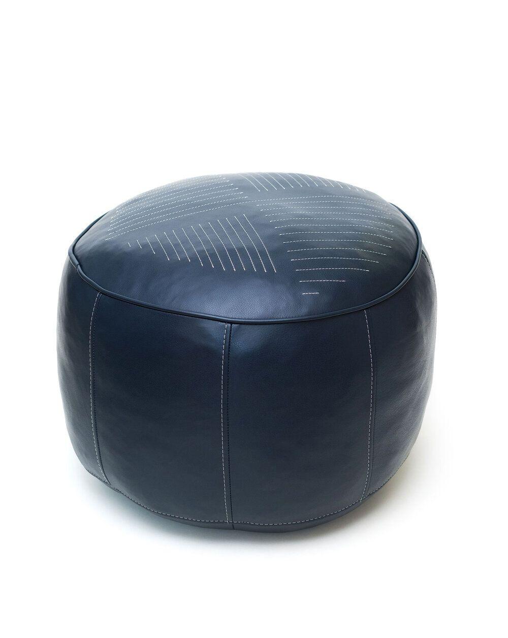 Sol Pouf  Leather pouf, Pouf, Minimalist pattern