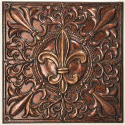 Fleur De Lis Wall Decor cbk styles 43667 wall decor stamped corners fleur de lis design