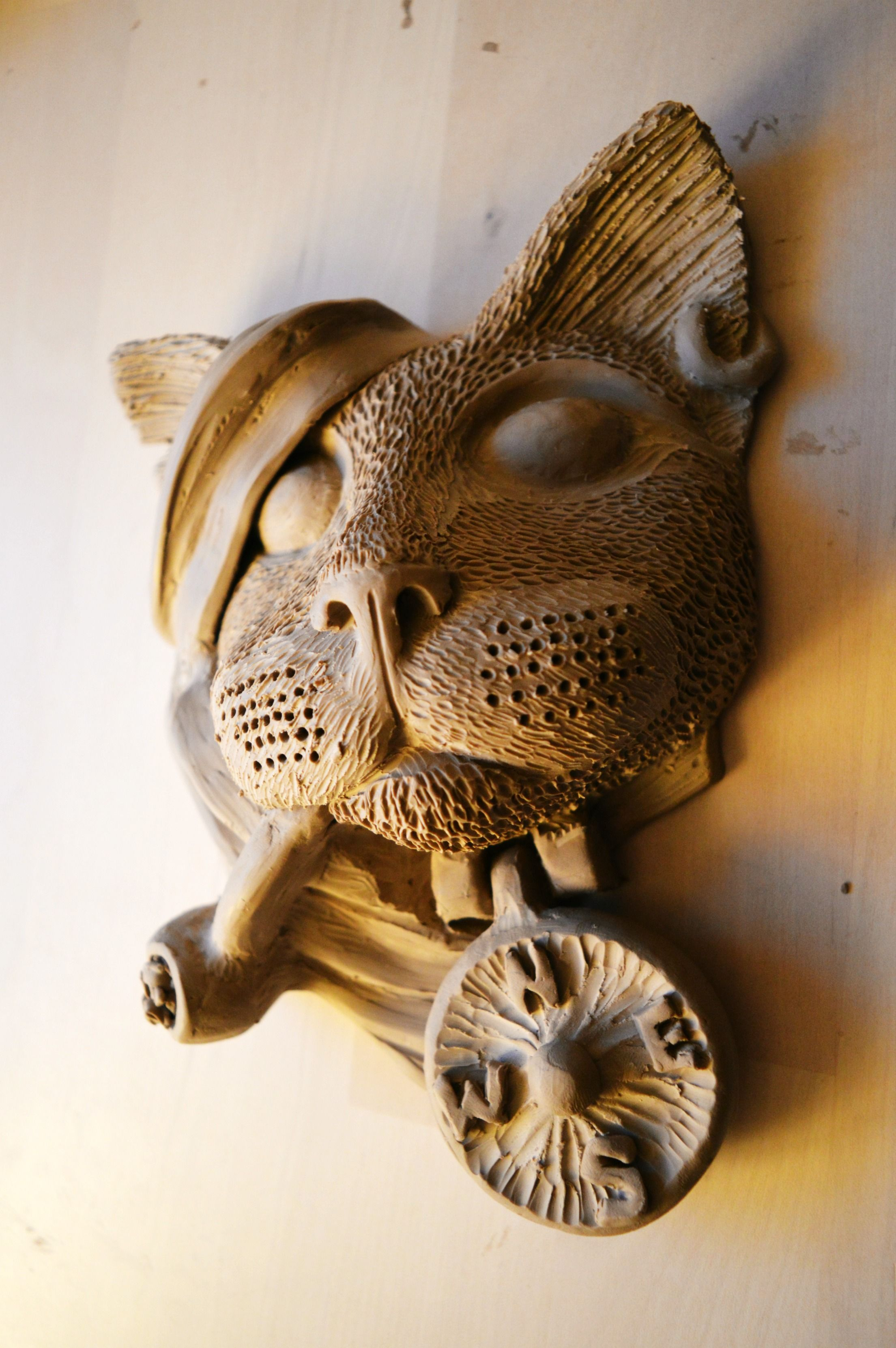 Our Hand Sculpted Pirate Cat Door Knocker Design Shall Be Cast In Bronze Shortly Cat Crafts Pirate Cat Cat Door