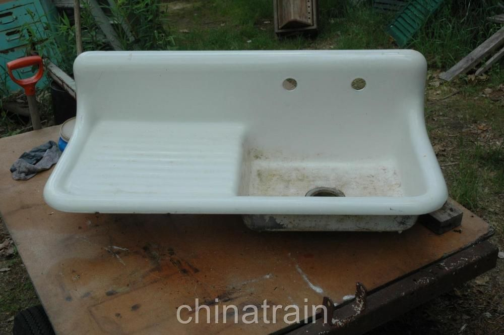 Antique American Standard 1938 Cast Iron Porcelain Kitchen Sink ...