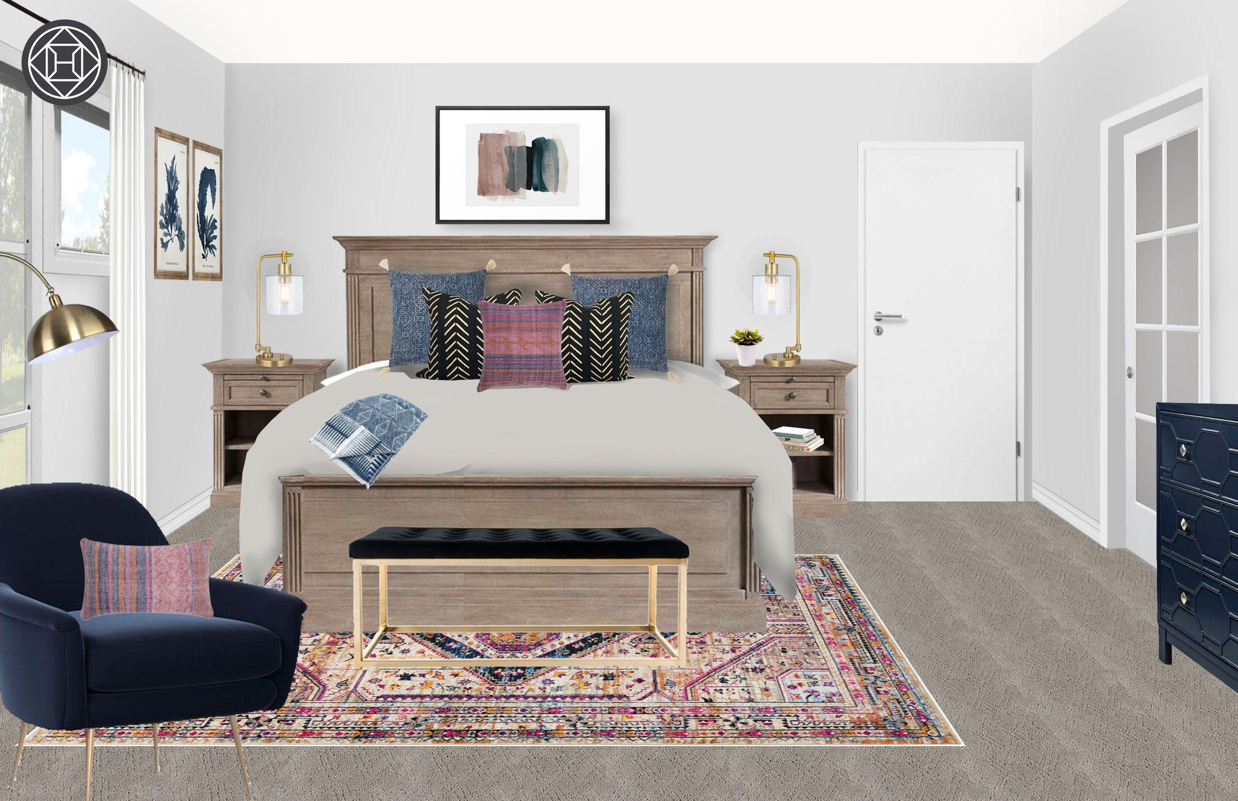 Bohemian Bedroom by Havenly   Bohemian bedroom design ...