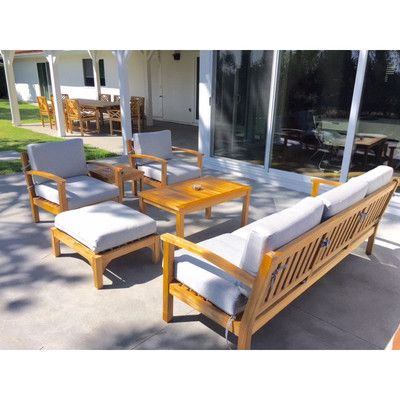 Trijaya Living Waterford 15 Piece Deep Seating Group with Cushion Fabric: Air Blue