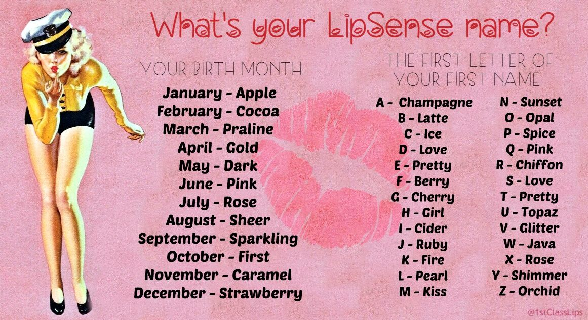 What's your Lipsense Name game! Lipsense