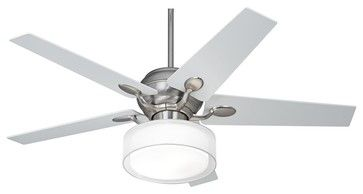 Art Deco 52 Casa Optima™ Steel Ceiling Fan Drum Shade Light contemporary ceiling fans