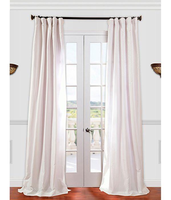 Eggshell Faux Silk Taffeta Curtain Half Price Drapes Faux Silk