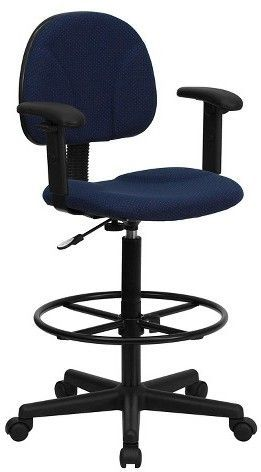 Marvelous Ergonomic Drafting Chair Navy Blue Flash Furniture Blue Uwap Interior Chair Design Uwaporg