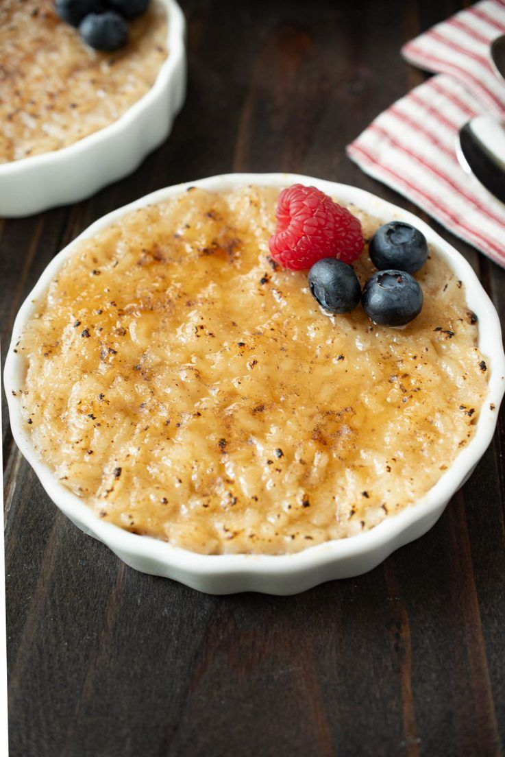 Oat Milk Rice Pudding Brûlée | Recipe in 2020 | Rice ...