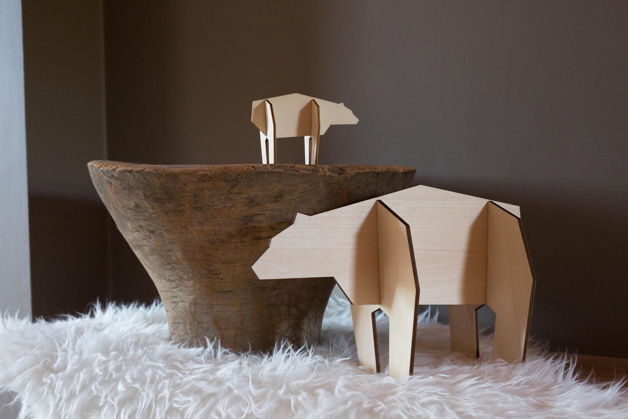 024 noRdic houten puzzel ijsbeer
