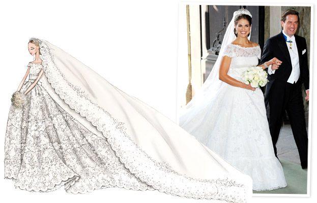 Valentino Designs Princess Madeleine Of Sweden S Wedding Dress All The Details Royal Wedding Dress Wedding Dress Sketches Top Wedding Dresses