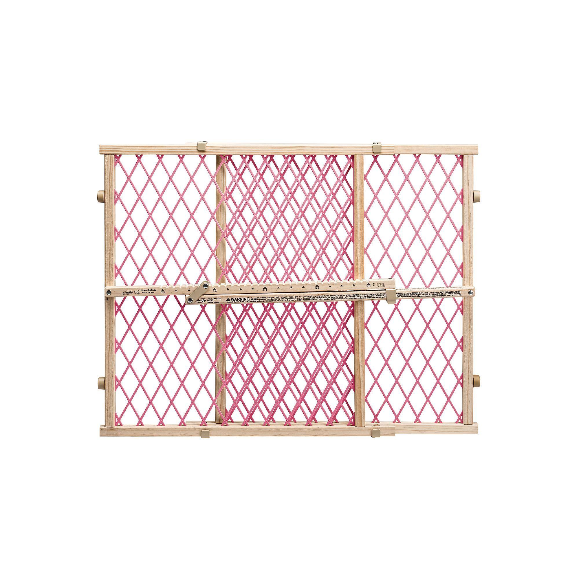 Evenflo Position & Lock Pressure Mount Gate, Pink