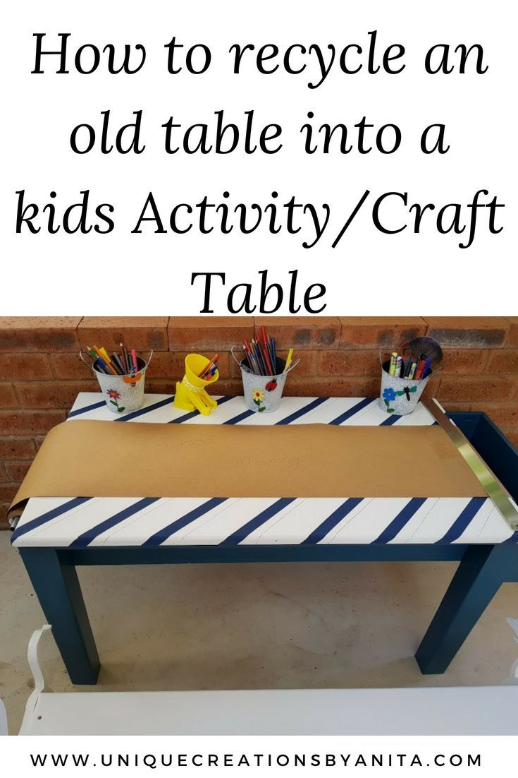 How To Make A Kids Craft Table Diy Kids Craft Tables
