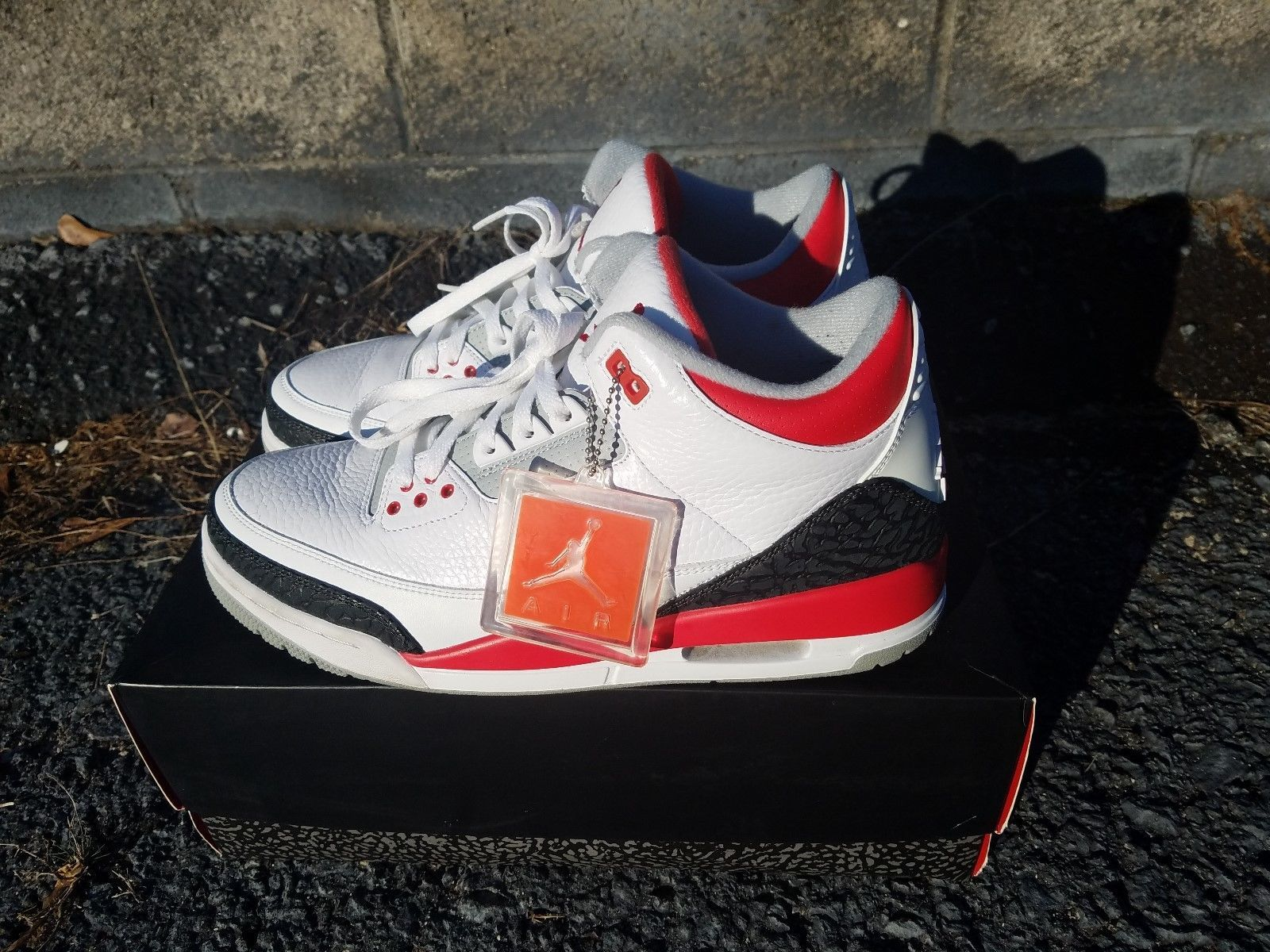 buy popular ee919 a9779 czech air jordan 3 retro white fire red silver black us10.5 9dd17 bb687
