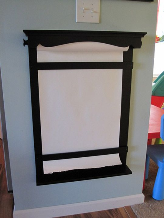 Project Idea Diy Paper Roll Wall Easel Paper Roll Holders