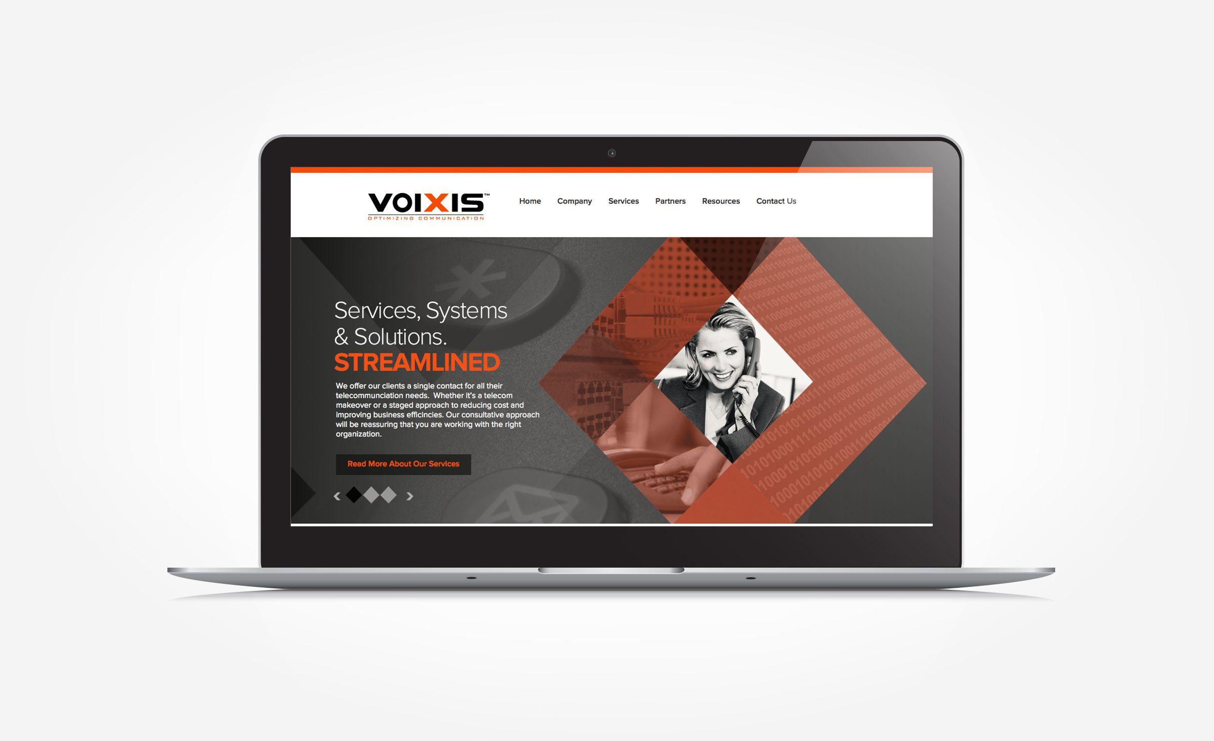 Voixis KickCharge Creative Corporate website design
