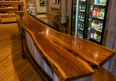Wood Slab Countertops Bar Top Bo Brooks Bookmatch Solid Construction Walnut