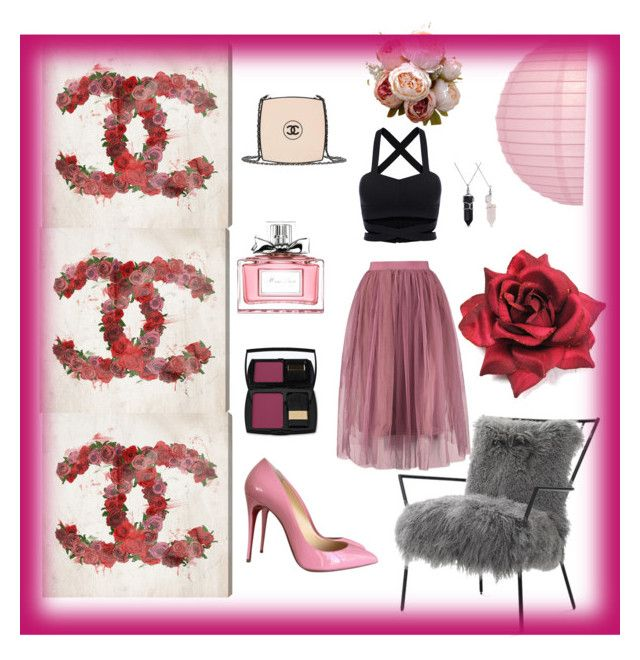 Hi Girly by ellenfischerbeauty on Polyvore featuring polyvore, fashion, style, Christian Louboutin, Chanel, Bling Jewelry, Lancôme, Christian Dior, Oliver Gal Artist Co., Mitchell Gold + Bob Williams, Cultural Intrigue and clothing