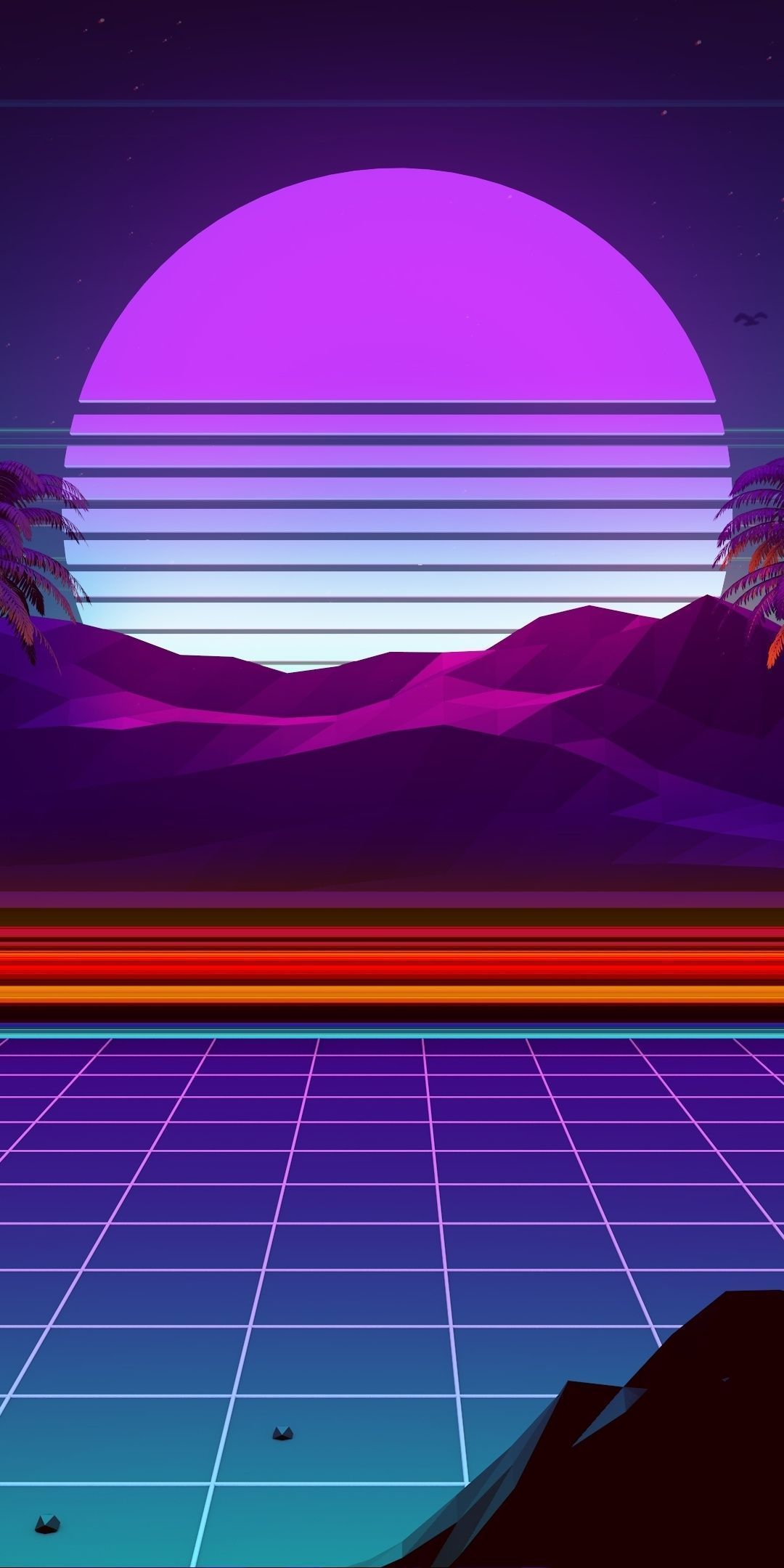 1080x2160 Night Moonlight Mountain Synthwave And Retrowave Digital Art Wallpaper Ios13wallpaper 1080x2160 In 2020 Vaporwave Wallpaper Neon Artwork Retro Wallpaper