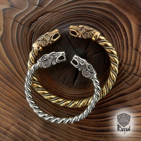 new thin viking wolf bracelet fenrir bracelet women. Black Bedroom Furniture Sets. Home Design Ideas