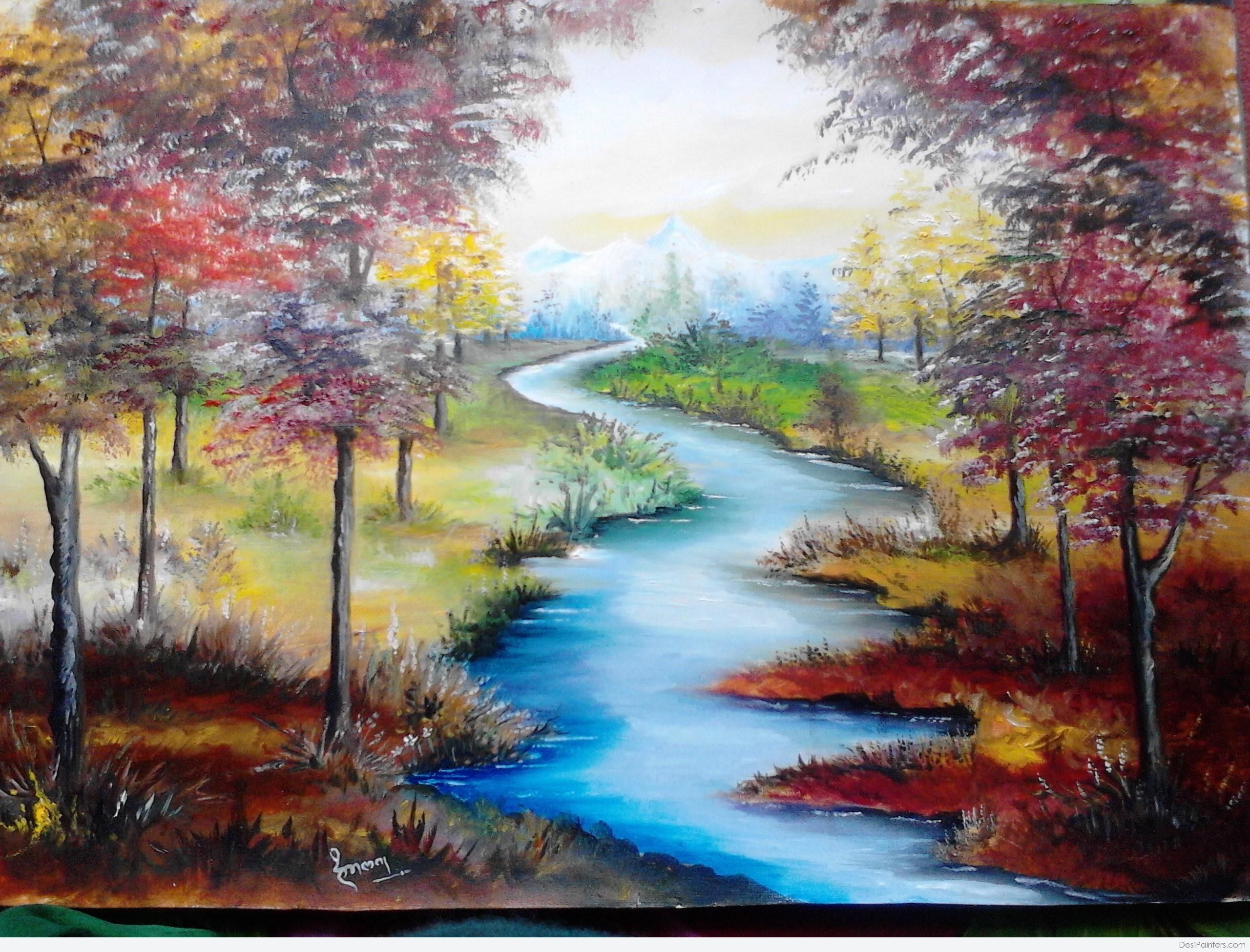 Image Result For Nature Painting Nature Paintings Oil Painting Nature Beautiful Paintings Of Nature