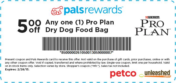5 Off Dog Food At Petco Pro Plan Dog Food Dog Food Recipes