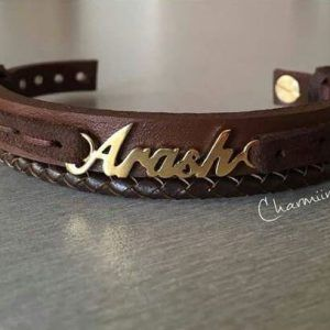 your name leather bracelet leather bracelet pinterest leather