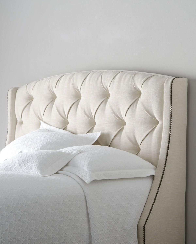 Bernhardt Rami Wing Queen Tufted Headboard | Pinterest | Recamara ...