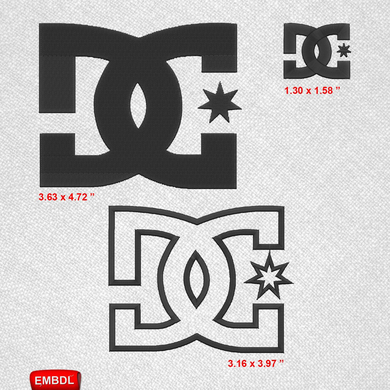 DC Shoes USA Pack- Embroidery Design Instant Download ...