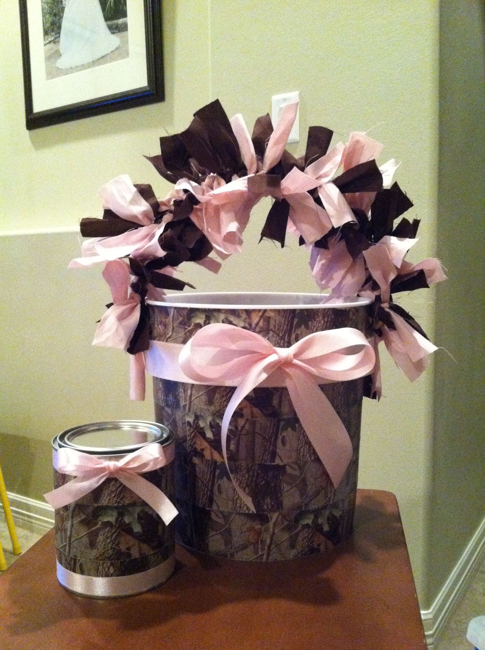 Pink Camo Decorations-buckets Party Ideas