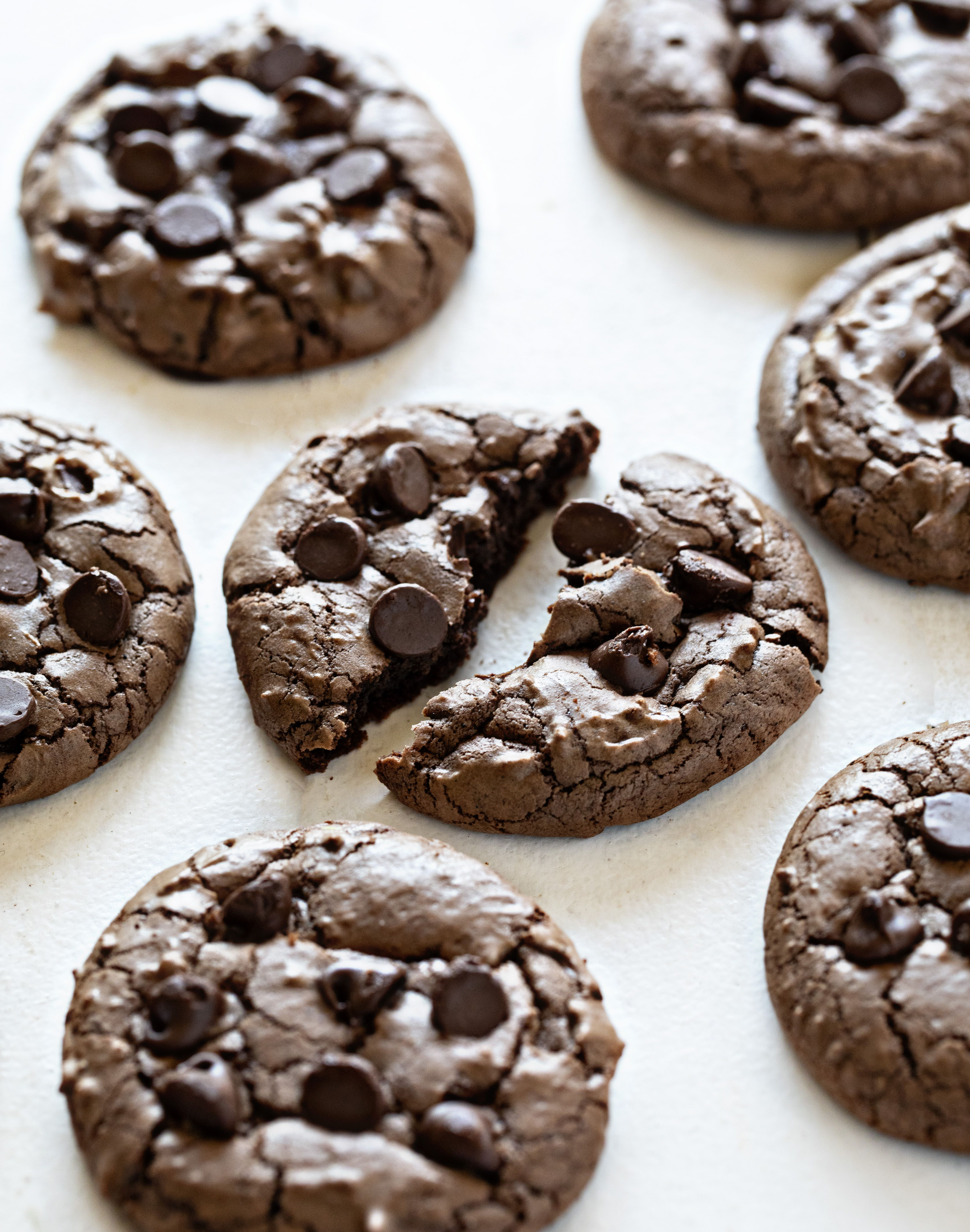 These Chocolate Espresso Cookies are seriously rich and chocolatey. When developing this recipe I wanted two things: intense flavor and the perfect crispy outer edge.