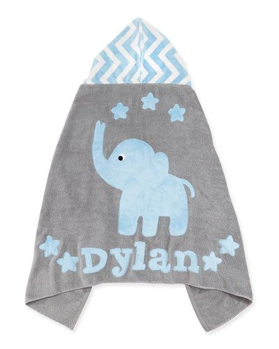 Boogie baby personalized big foot elephant hooded towel blue boogie baby personalized big foot elephant hooded towel negle Choice Image
