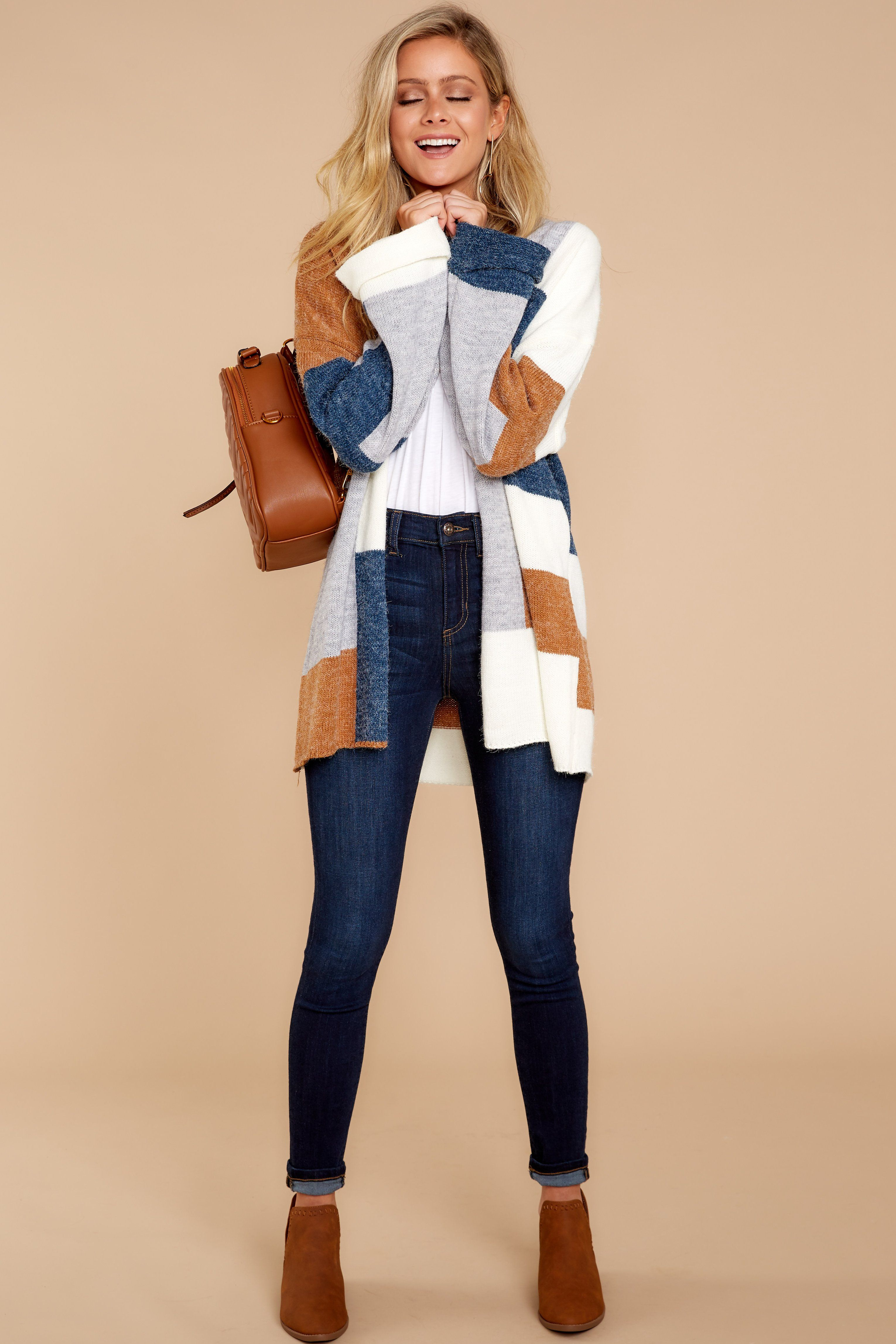 390042d6b0 Brown Multi Cardigan - Multi Cardigan - Cardigan -  52 – Red Dress Boutique  Moda Fashion