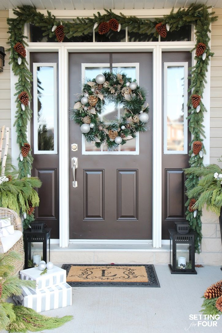 Holiday cheer outdoor christmas decorations christmas entryway