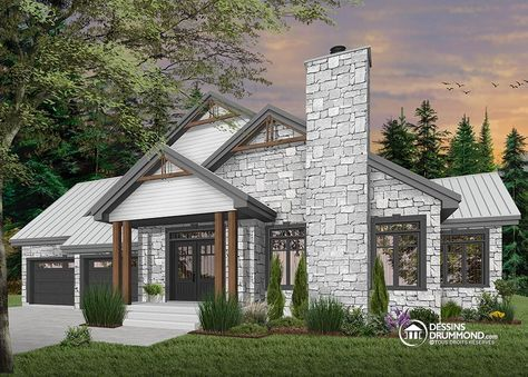 Détail du plan de Maison unifamiliale W3285 plan de maison Pinterest