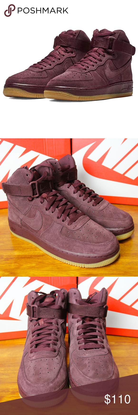 Nike SF Air Force 1 High Burgundy Gum | 864024 600