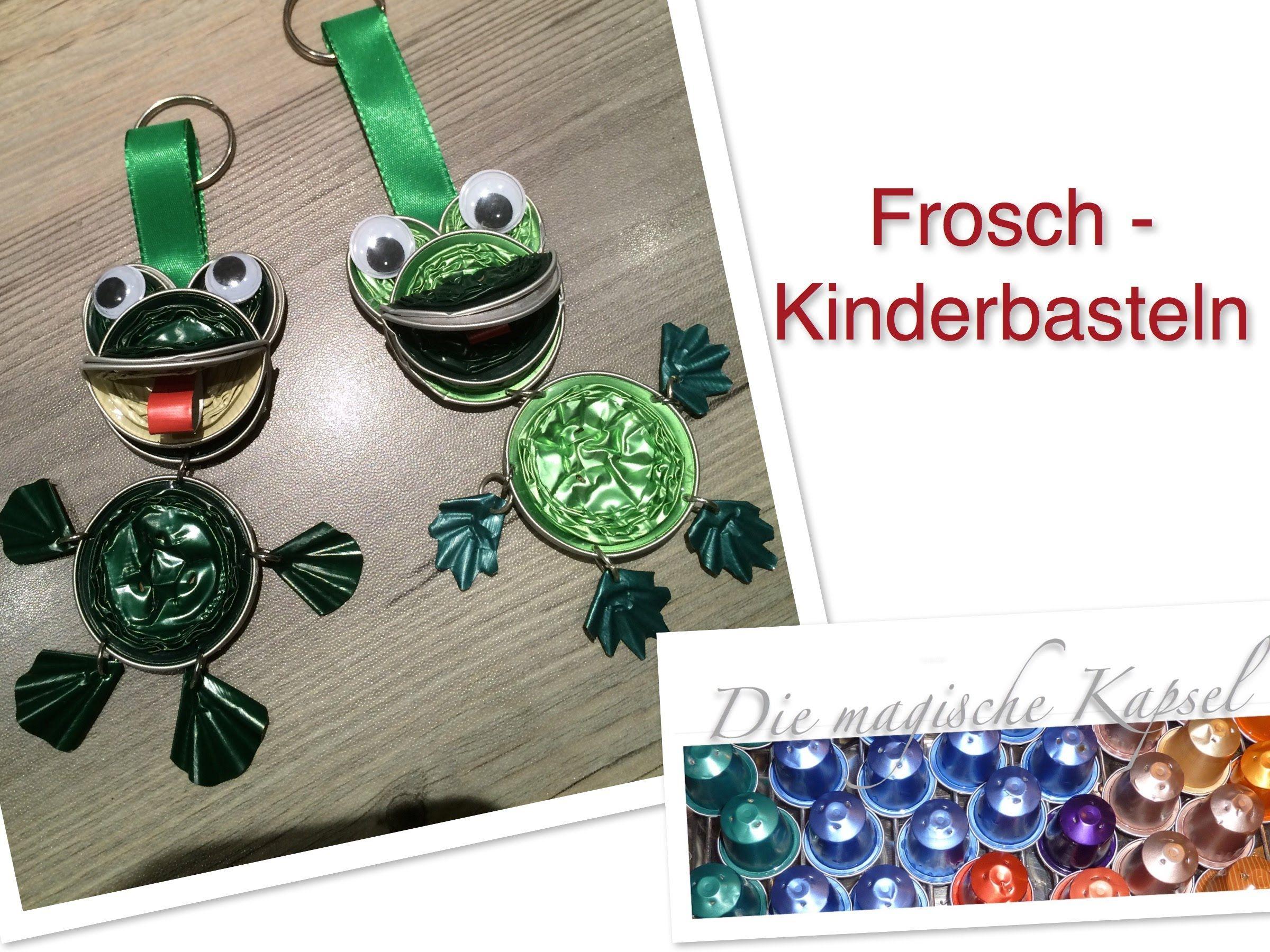 Schmuck basteln mit kindern anleitung  Nespresso Kinder Schmuck Anleitung - DIY - Frosch - die magische ...