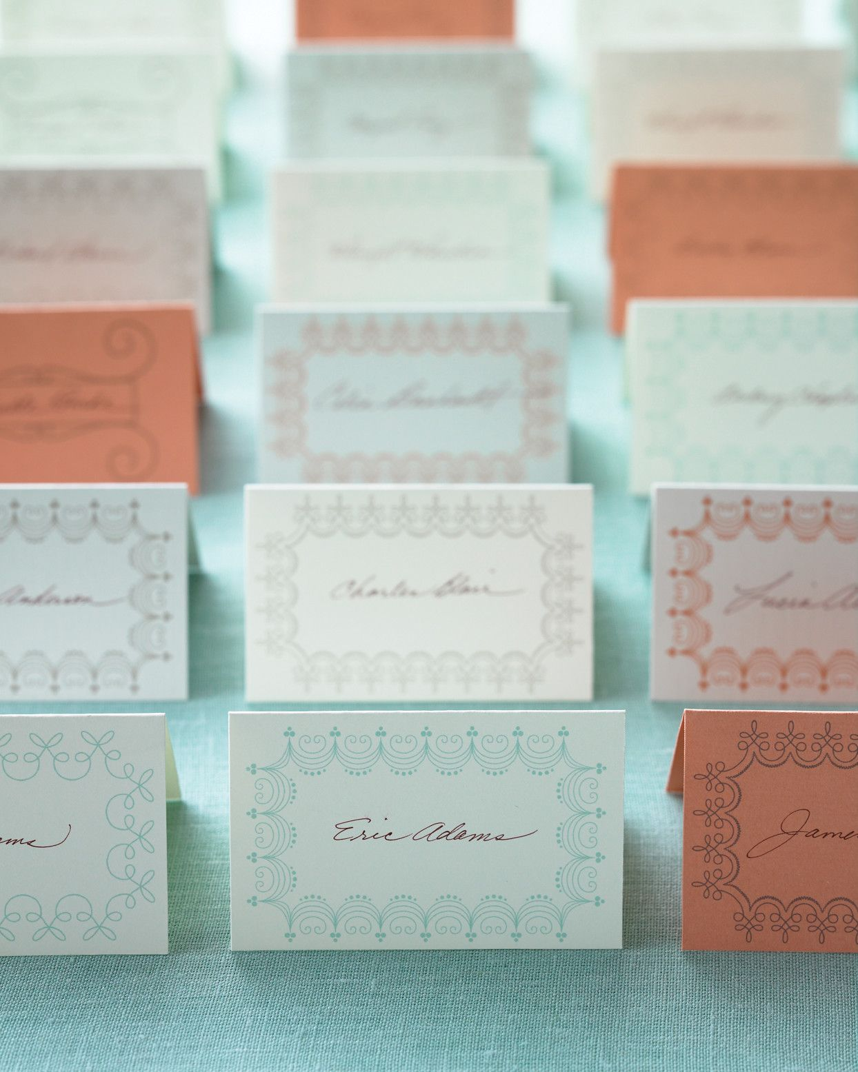 These Charming Place Cards Were Printed On Pre Perforated Card Stock