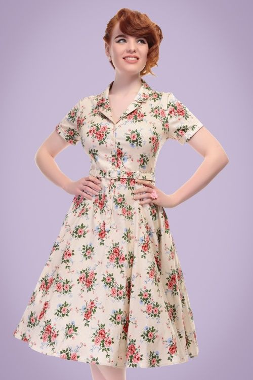 fcedcbea0e17 Collectif Clothing Caterina 40s Floral Swing Dress 20842 20121224 0001W