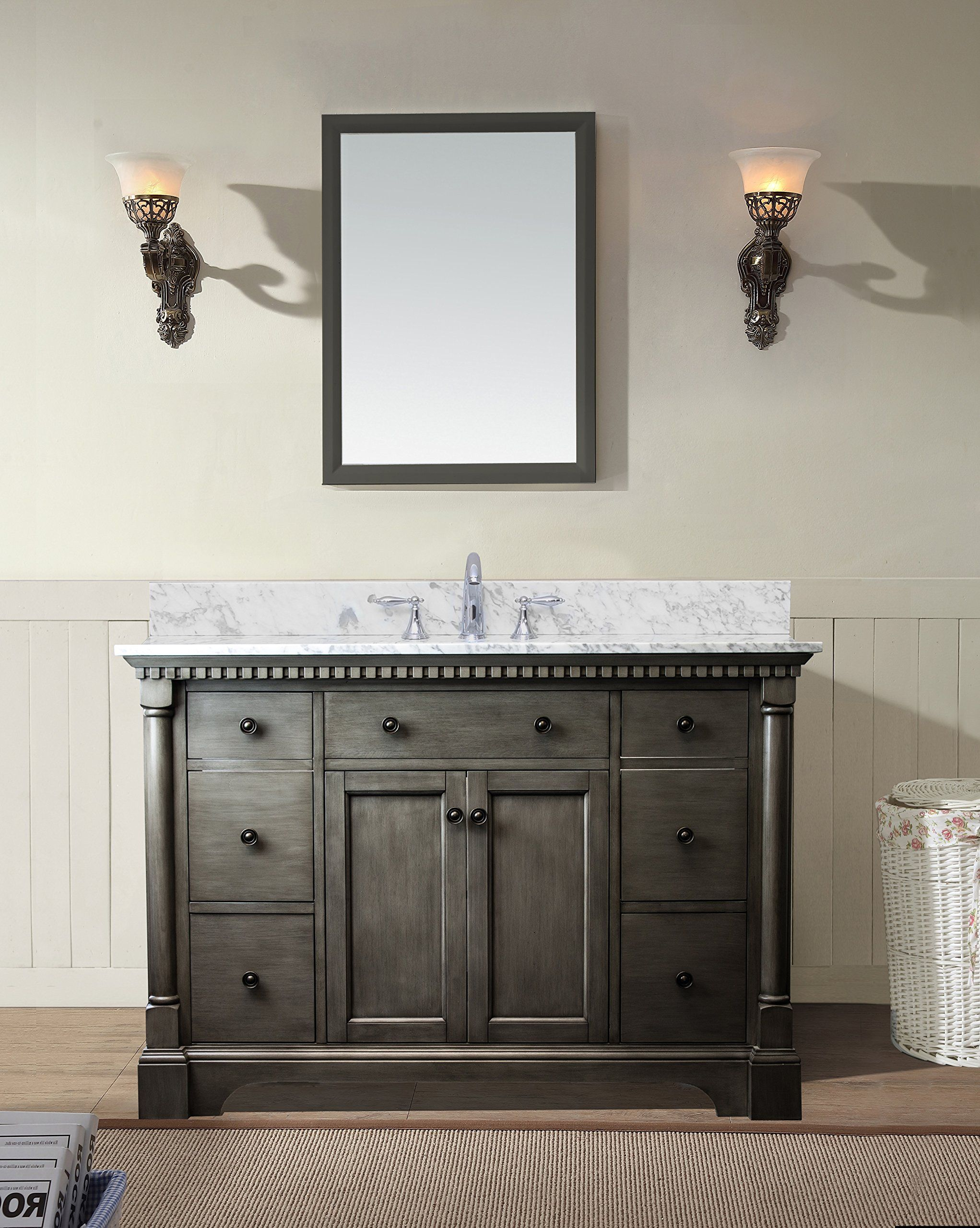 Sets bathroom vanity ari kitchen second - Stella 49 Bathroom Vanity Set Antique Gray Awesome Products Selected By Anna
