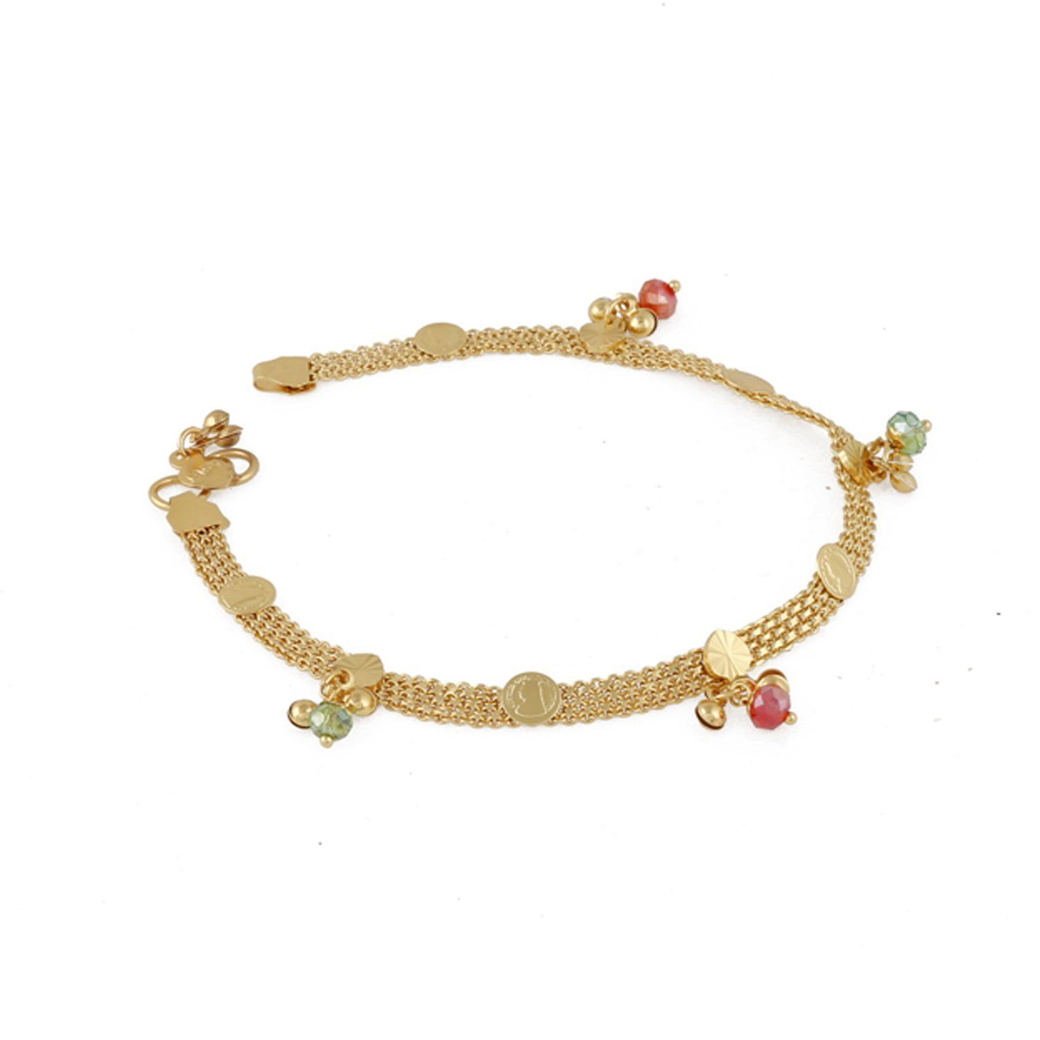 silver the clover gold anklets white anklet in designer