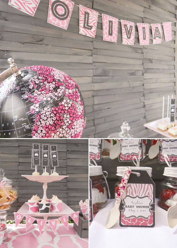 High Quality Posh U0026 Pink Safari Baby Shower