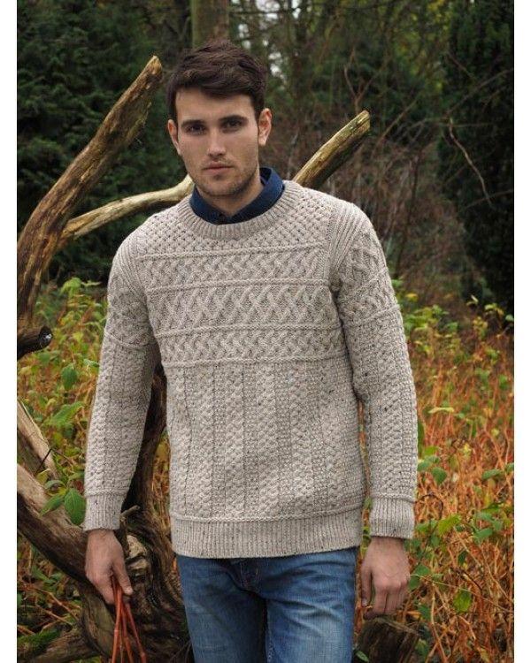 Aran Man\'s Crew Neck Sweater | Suéteres | Pinterest | Sueter hombre ...