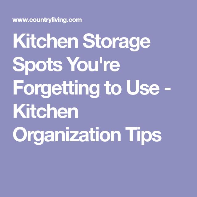 11 kitchen storage spots you completely forgot about storage rh pinterest com au