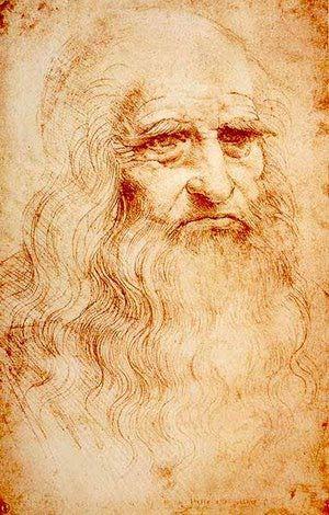 Lo que hay que saber sobre Leonardo da Vinci: Autorretrato de Leonardo da Vinci (h.1510-1515). Dibujo con sanguina sobre papel, 33 x 21 cms. Biblioteca Real de Tur