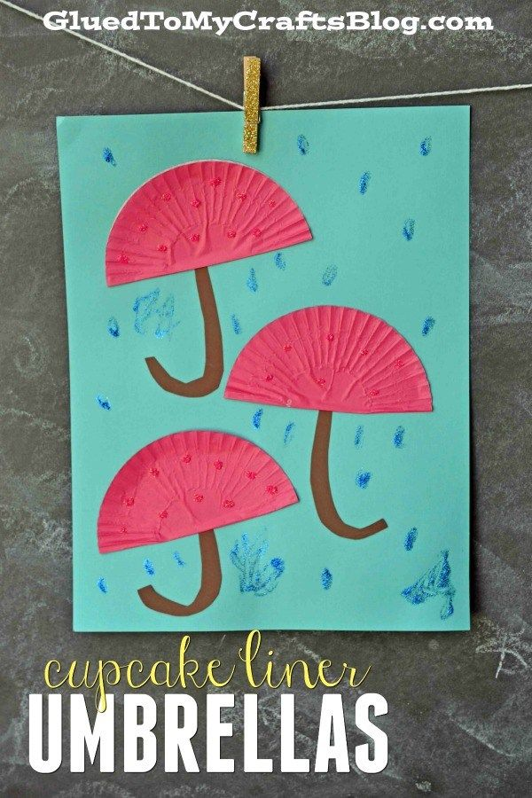 Bastelidee: Regenschirm aus Muffinform