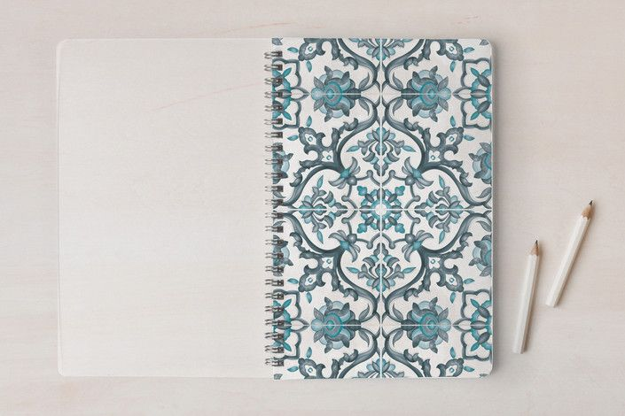 European Tiles Notebooks by Ana de Sousa at minted.com #art #blue #journal #notebook #book #school #class #teen #european #tiles #gift #pattern #cuaderno #escuela #clases #caderno #escola #aulas #stationery #minted #portuguese #madeira