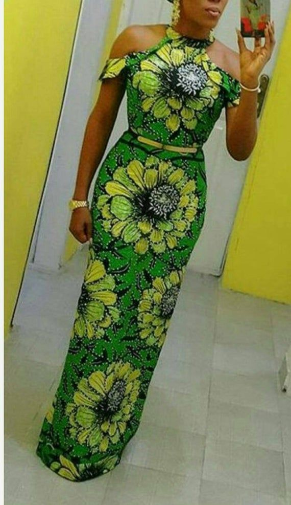 Splitted Ankara dress/ African fabric/ African women's clothing/ Ankara fashion/African dress/Dashiki/Prom dress,African clothing